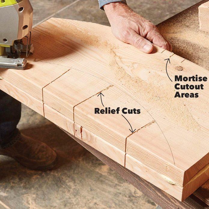 viking table cut legs to shape
