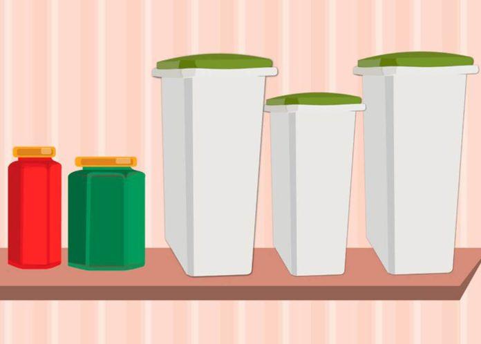Pantry organization slim bins