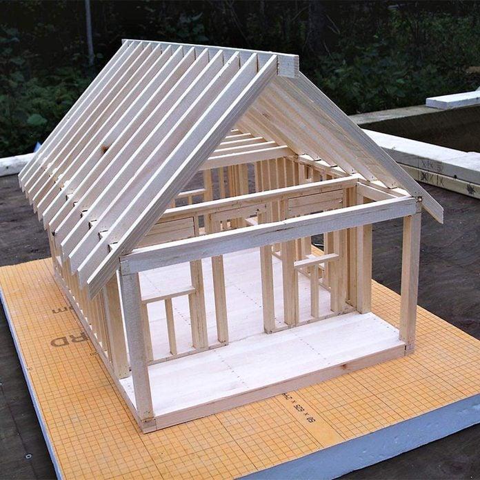 tiny home cabin model