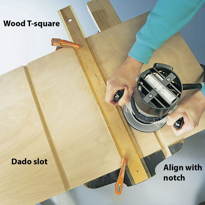 routing with a t square jig