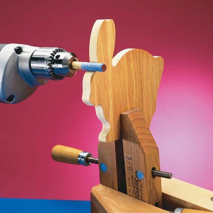 mini sanding drum bunny woodworking project