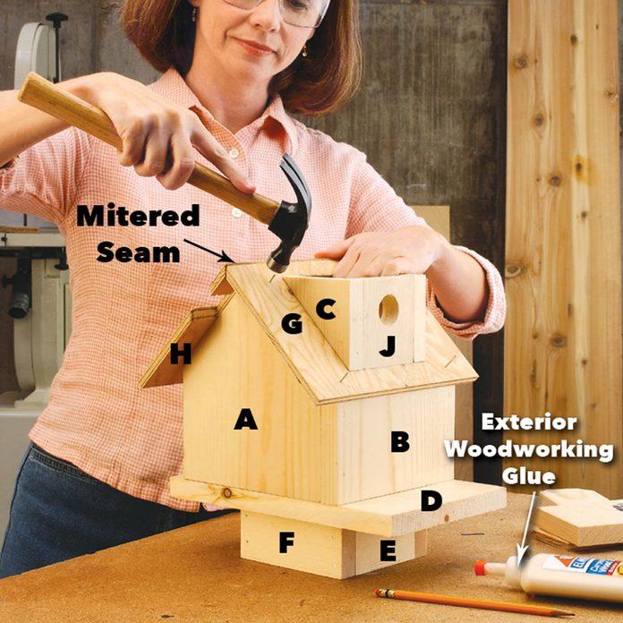 attach the birdhouse entry