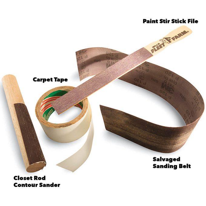 sanding belt recycling parts