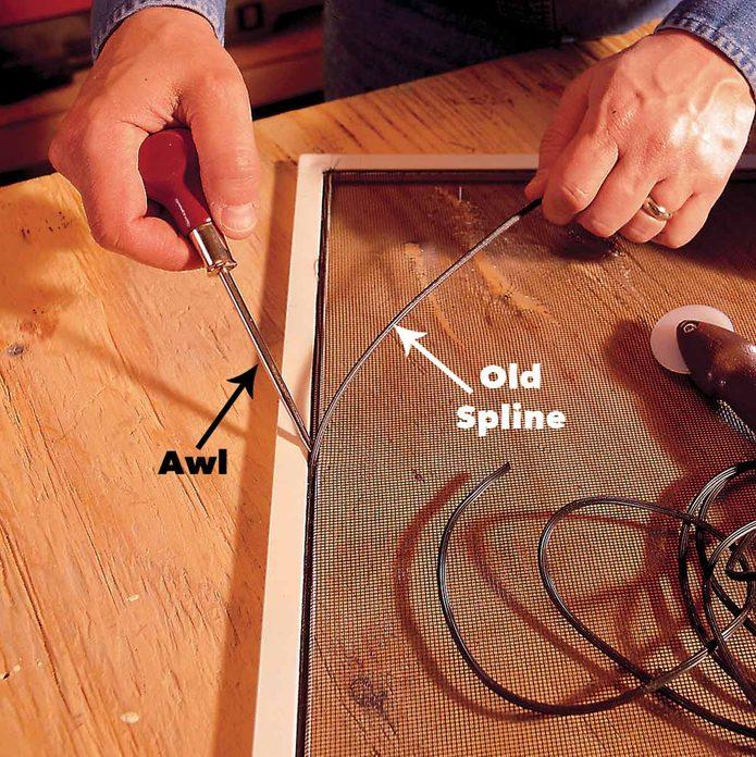 repair window screen spline