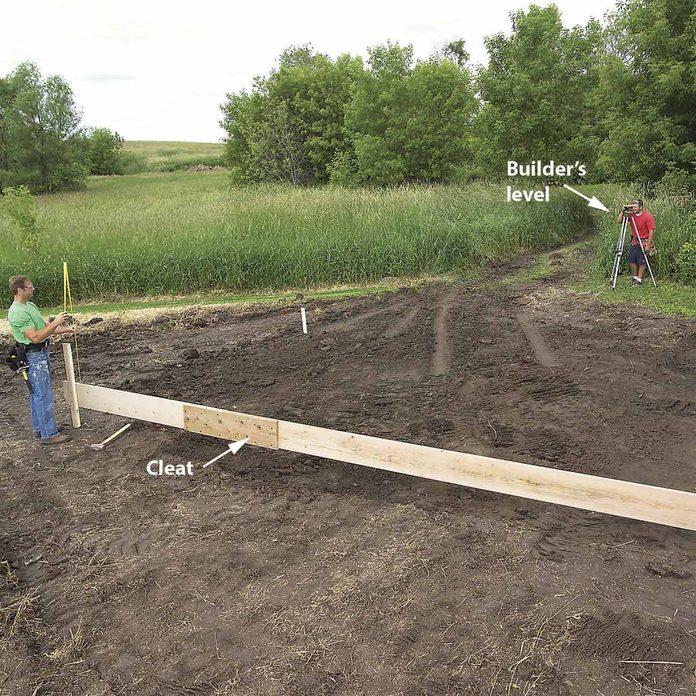 building concrete slab form, shed foundation