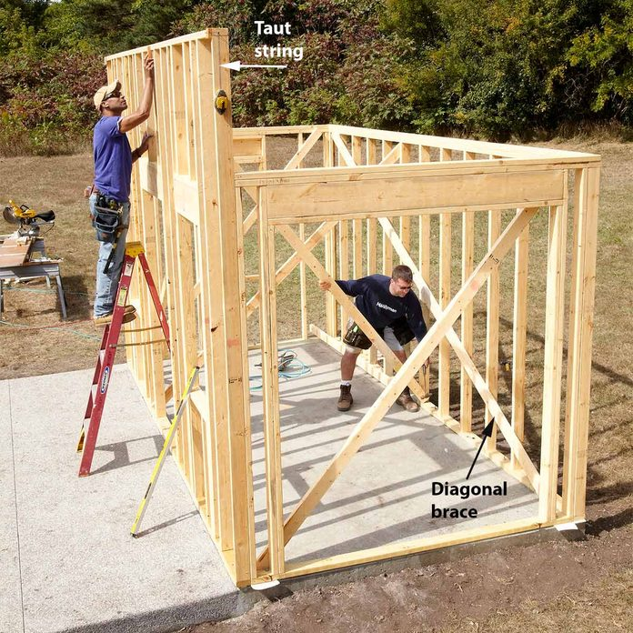 build the walls of the shed