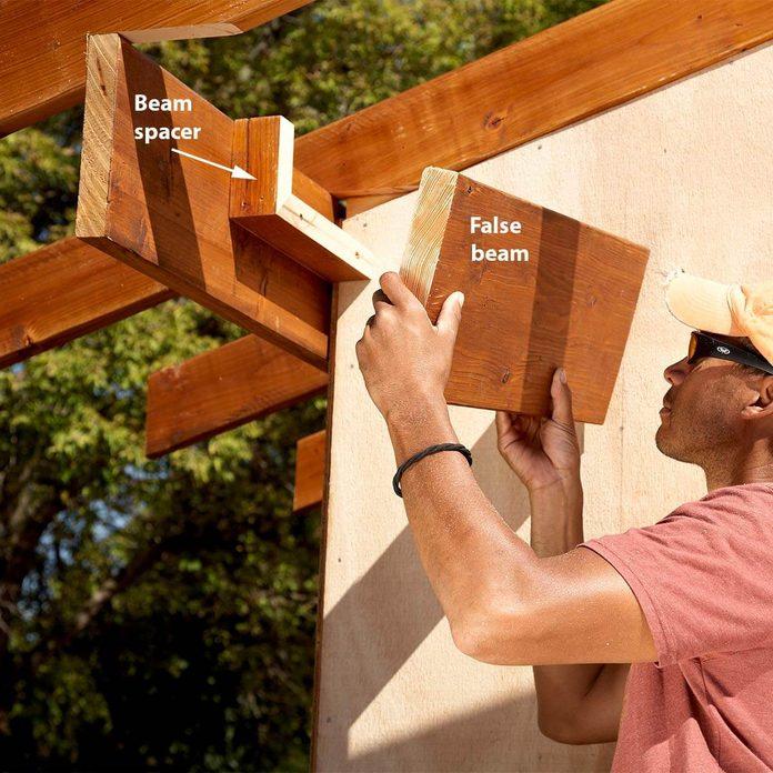 false beams for shed