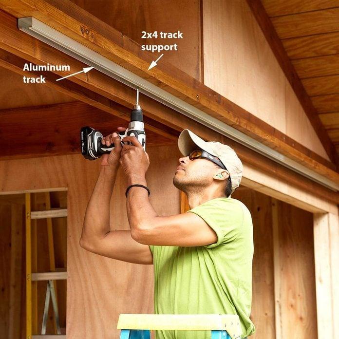 build a sliding door on shed