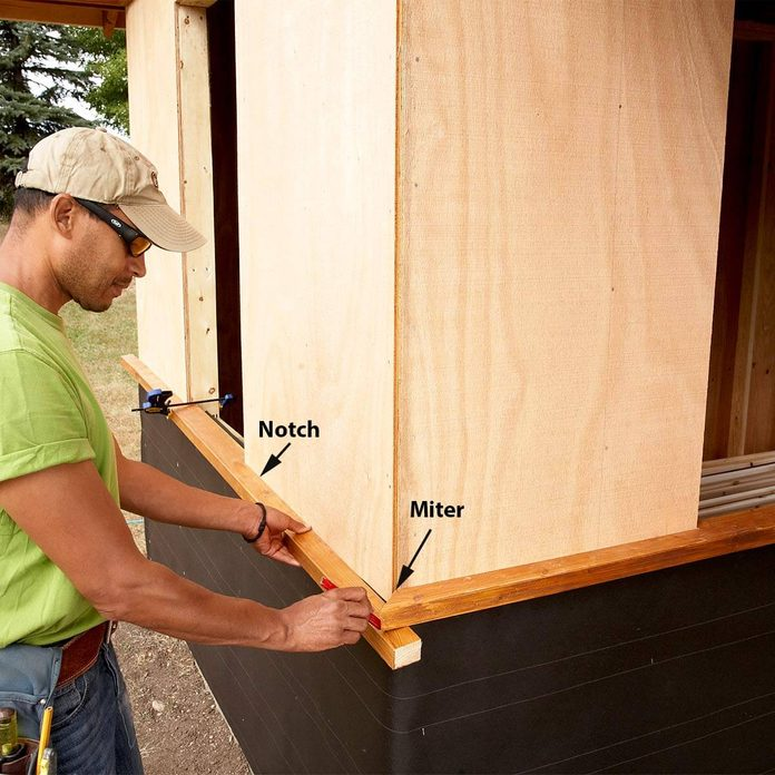 sill for shed plus shelter
