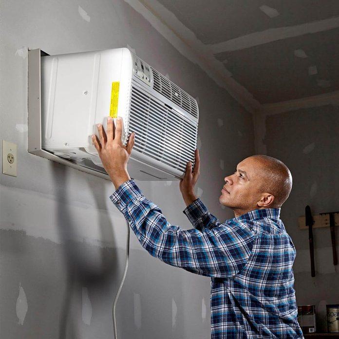 room air conditioner in garage