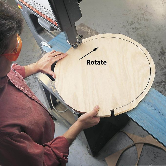cutting circles with a band saw