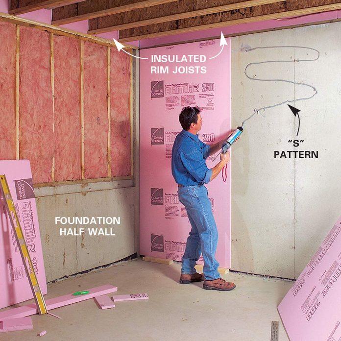 Insulating basement walls and framing