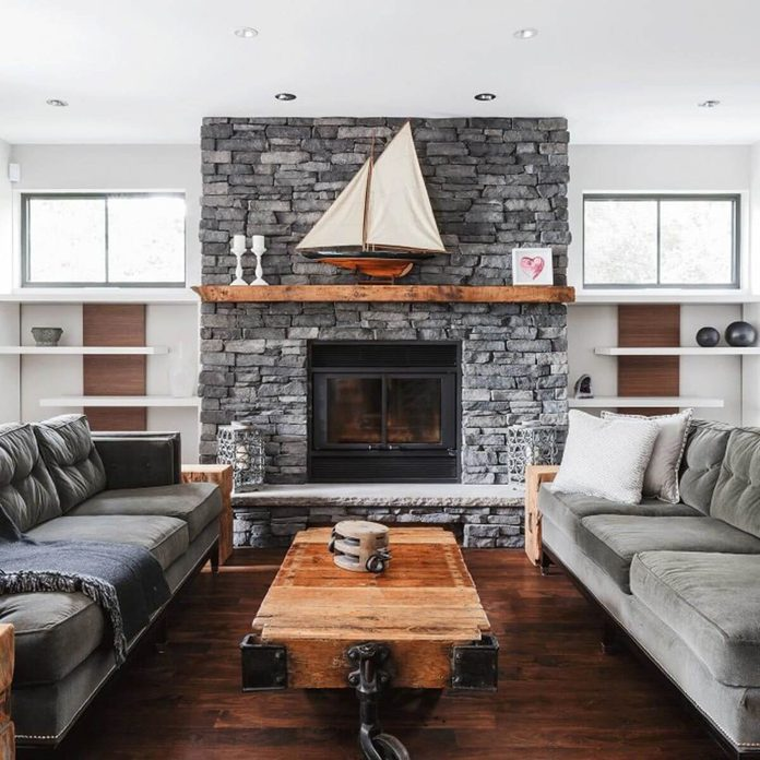 living room nautical transitional