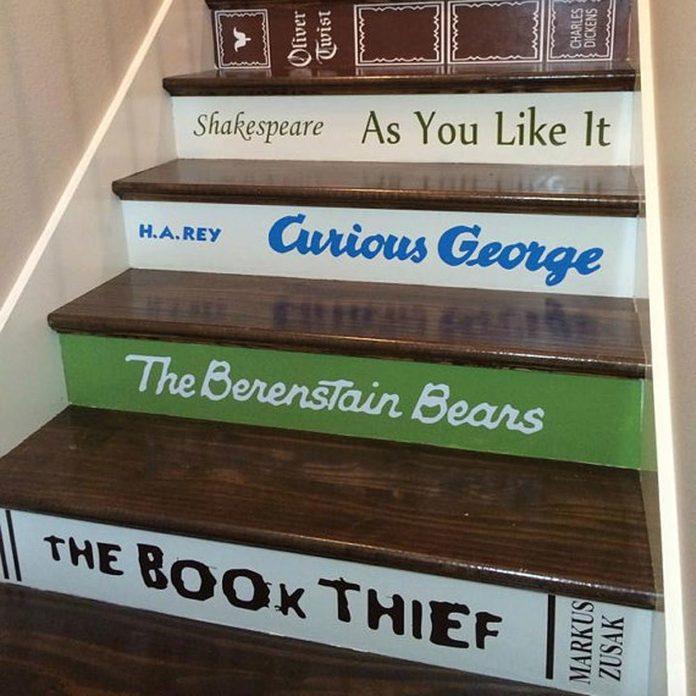 book titles stair risers