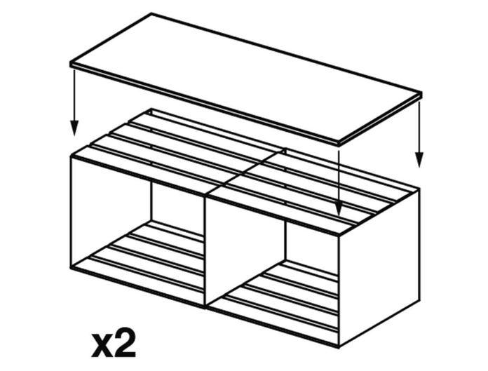 crate bookcase adding board