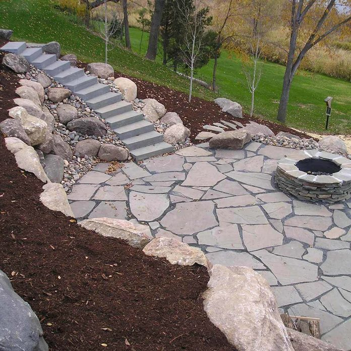 Patio with Retaining Wall