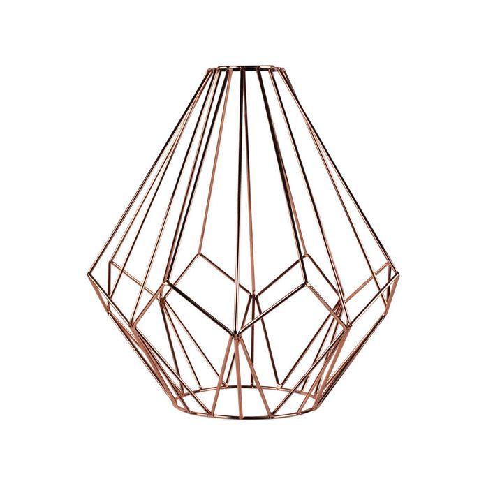 geometric copper light pendant