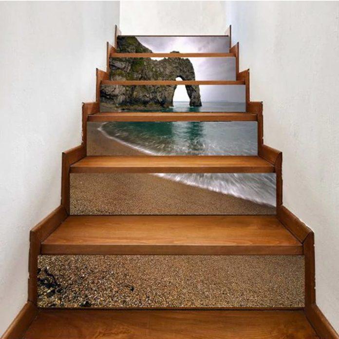 beach decal stair risers