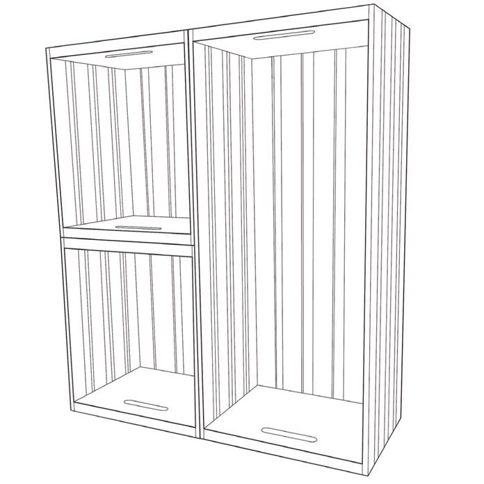 crates and pallet rolling shelf