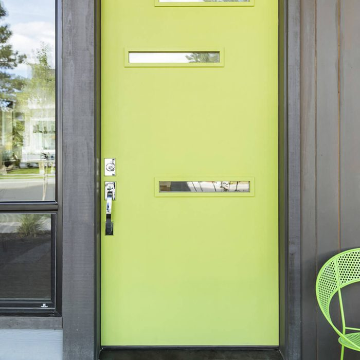 Lime Green Front Door with Matching Chair