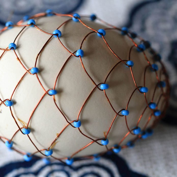 Egg with copper wire