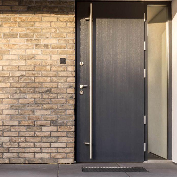 Minimalist Black Front Door