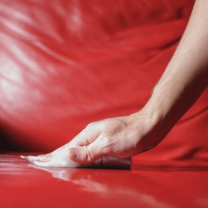 red leather cleaner