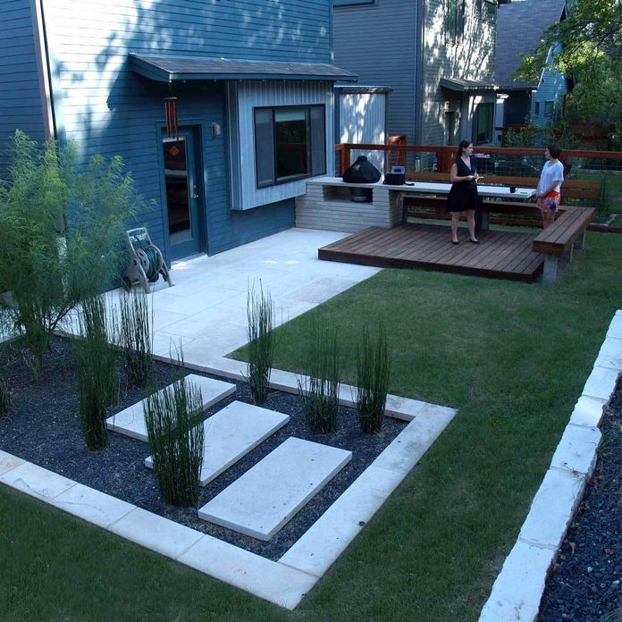 Patio with Modern Landscaping