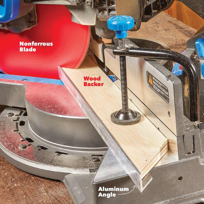 cut aluminum with miter saw