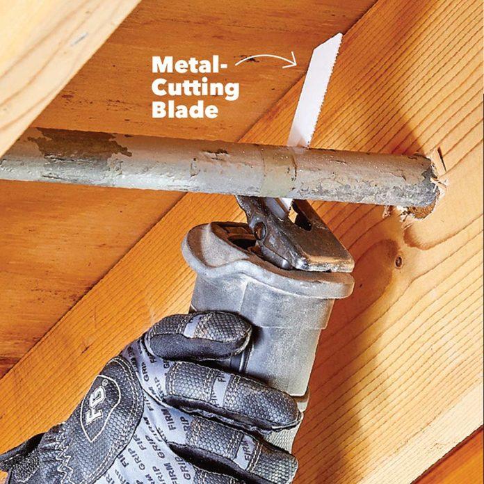 cut metal with recip saw