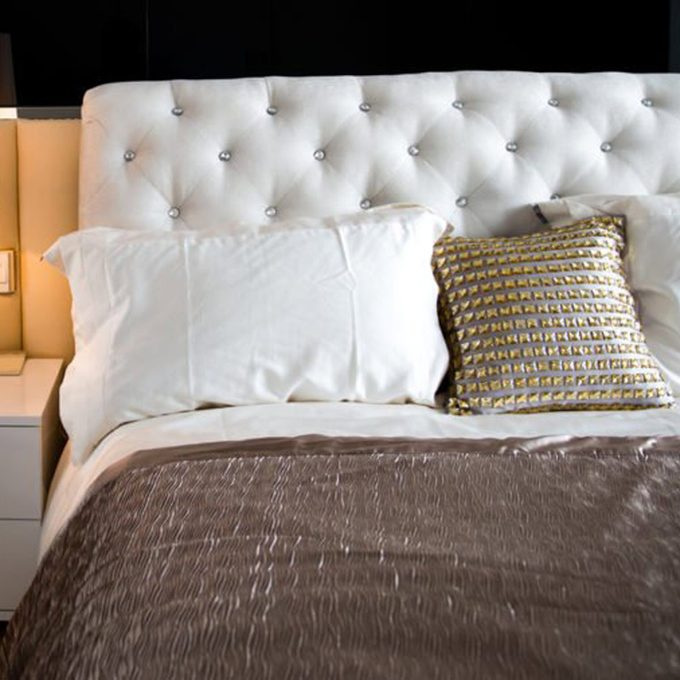 pillows on bed