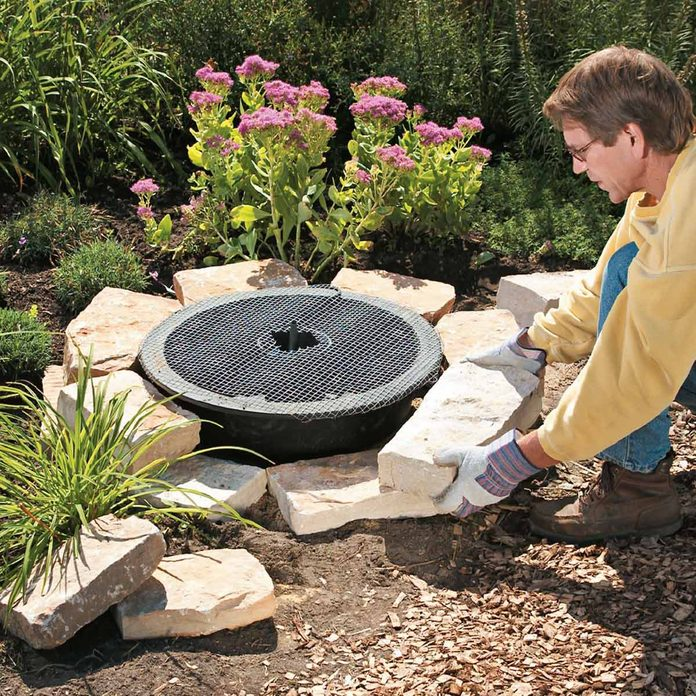 soothing fountain add stone block