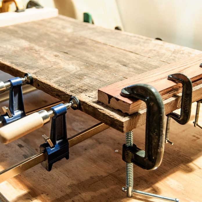 clamping barnwood