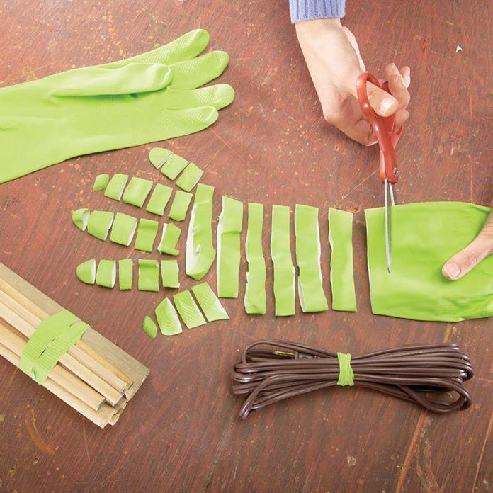 rubber gloves rubber bands