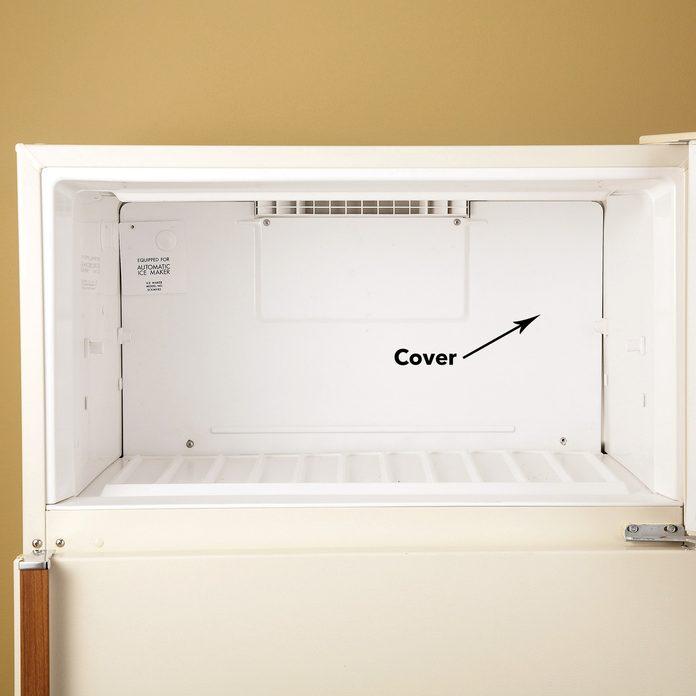 remove refrigerator cover