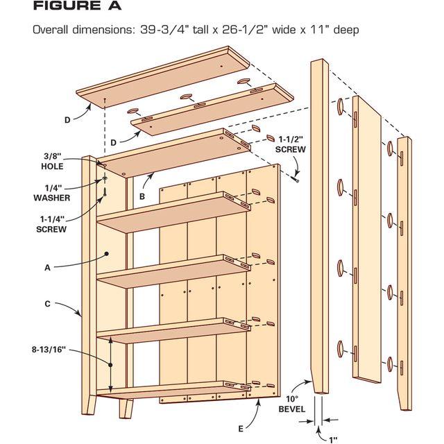 FH11NOV_BOOKCA_13-1200 simple bookcase