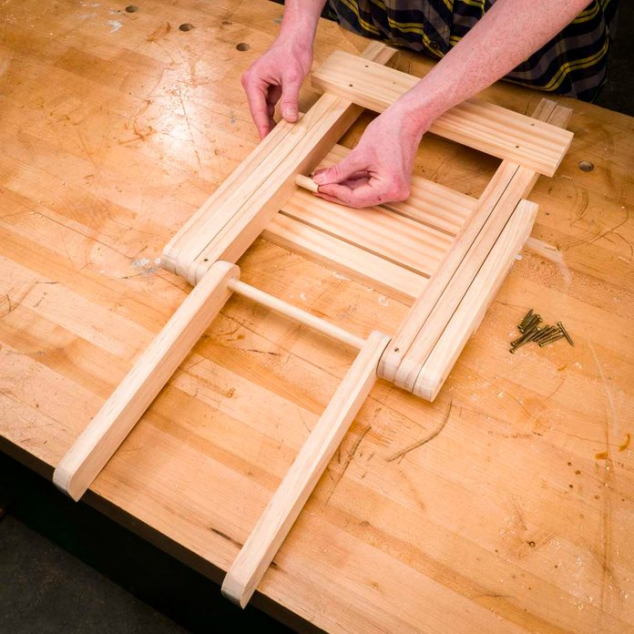 Folding Stool putting assemblies together