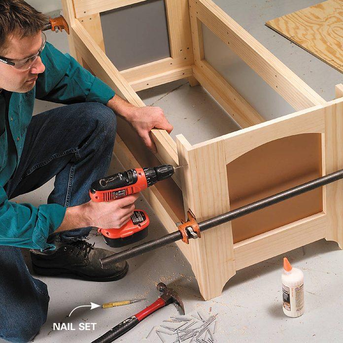 outside storage bench assemble