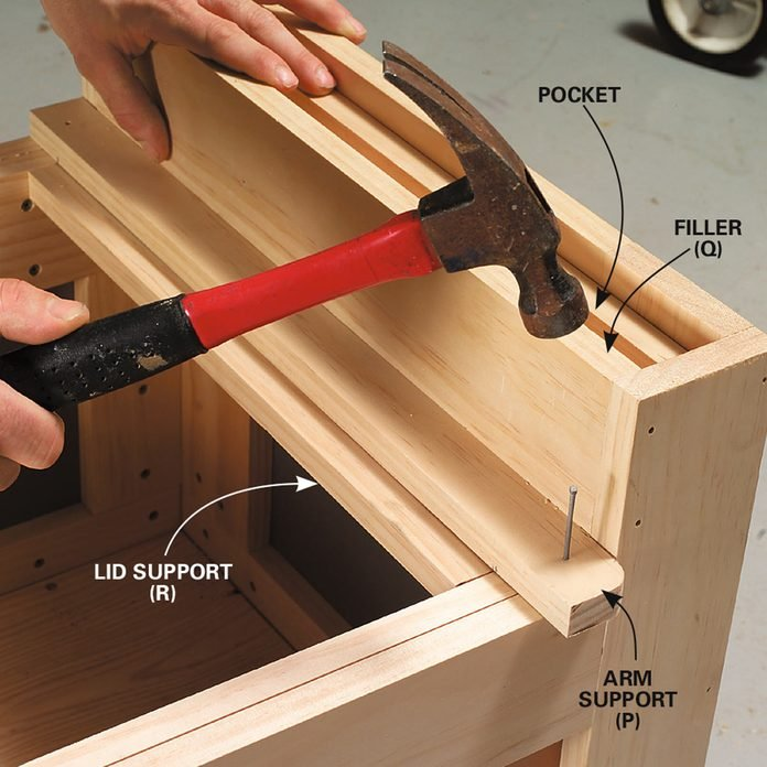 outside storage bench step 7