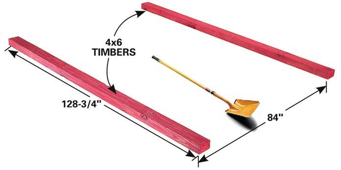 simple deck dig timbers