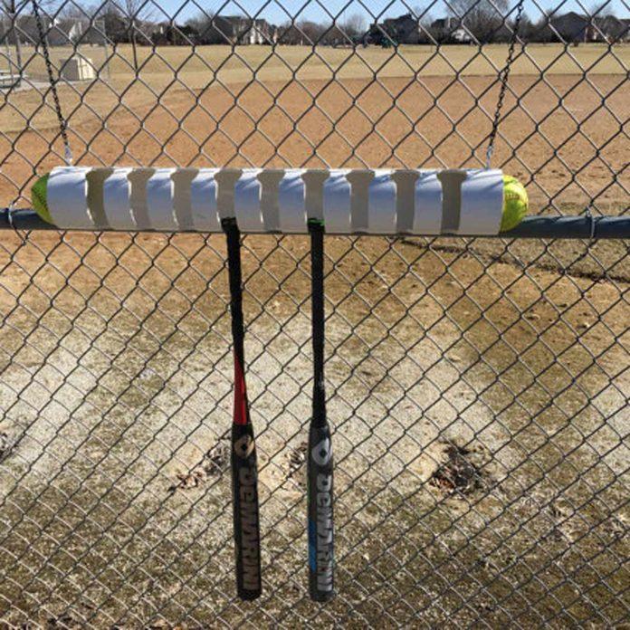 pvc bat and ball holder