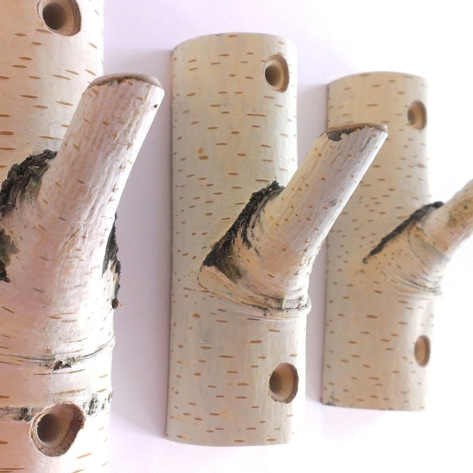 birch coat rack hooks