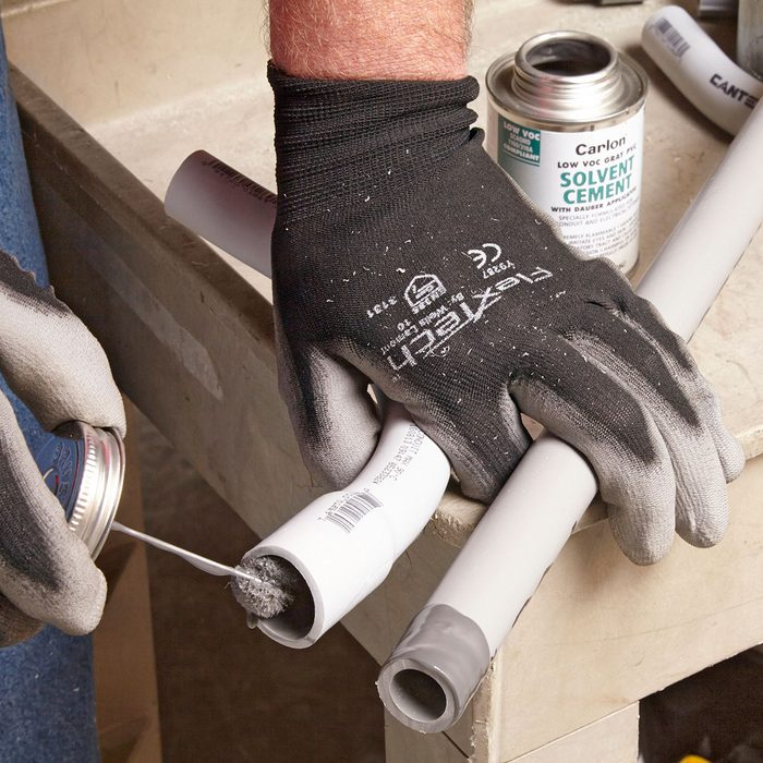 Gluing PVC Conduit   Construction Pro Tips