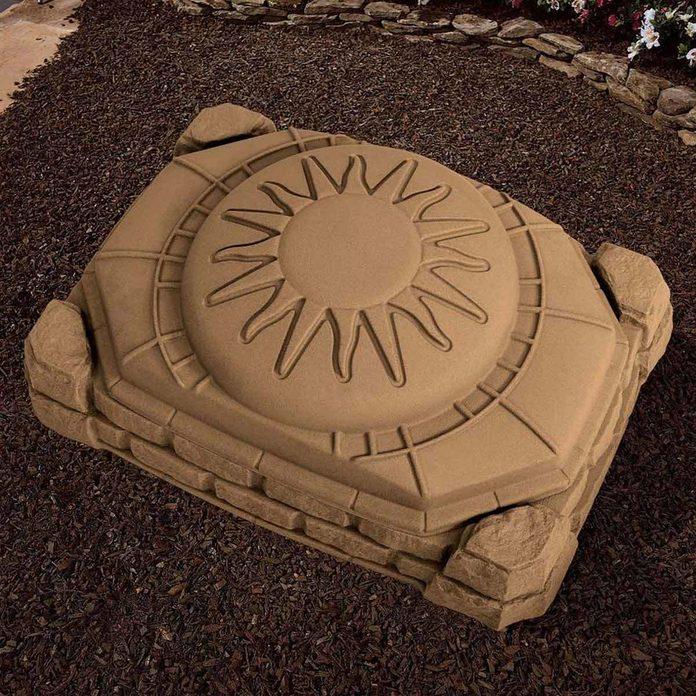 natural looking sandbox