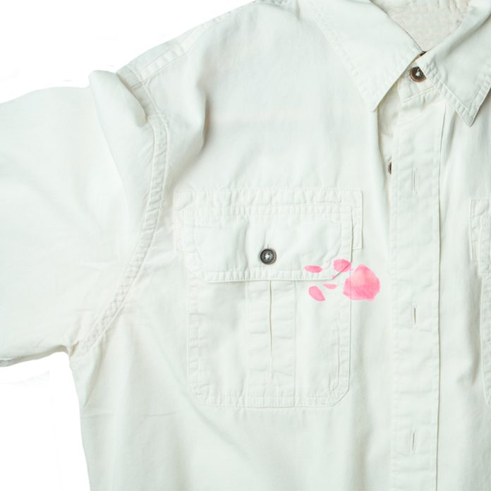 stain on white shirt