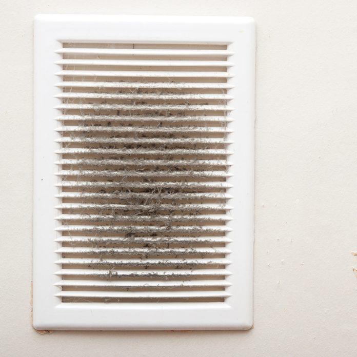 vent grilles furnace smells