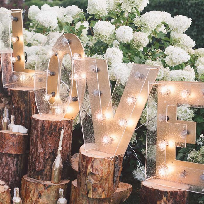 marquee letters wedding love
