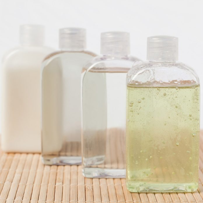 shampoo bottles bath shower products