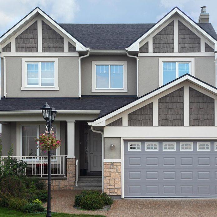 gray house exterior siding