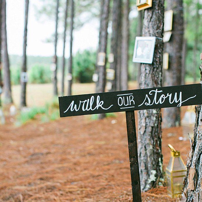 outdoor backyard wedding diy decor walk our story photo journey